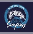 big ocean sea blue tsunami wave vector image vector image