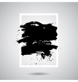 black grunge splash in white frame Modern vector image vector image