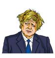 boris johnson uk prime minister cartoon caricature vector image vector image