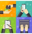 Business Workflow Set vector image vector image