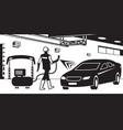 car paint service vector image