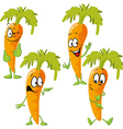 carrot - funny cartoon vector image