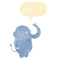 cartoon funny elephant with speech bubble vector image