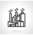 Chemical plant line icon vector image vector image