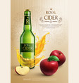 cider realistic composition vector image vector image