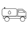 cistern truck black color icon vector image vector image
