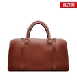 Classic Brown Leather Bag vector image vector image