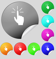 Click here hand icon sign Set of eight multi vector image vector image