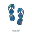 colorful doodle snowflakes flip flops silhouettes vector image