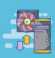 computer fan technology vector image