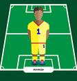 Computer game Romania Football club player vector image vector image