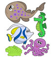 cute marine animals collection 3 vector image
