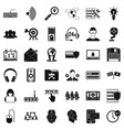 cyber protection icons set simple style vector image vector image