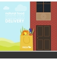 Delivery of natural products vector image vector image