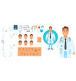 doctor character generator vector image