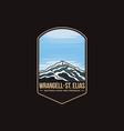emblem patch wrangell st elias national park vector image vector image