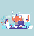 Employee team work concept