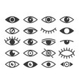 eye icon medicine supervision health eyes look vector image vector image