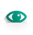 eye icon paper vector image vector image