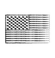 flag united states of america flat monochrome vector image vector image