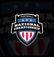 football nationl championship emblem logo on a vector image vector image