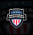 football nationl championship emblem logo vector image vector image