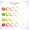 funny cartoon colorful bubbles burst vector image vector image