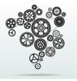 gearwheel mechanism background vector image vector image