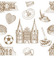 germany drawn seamless pattern vector image vector image