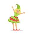 Girl Dressed As Santa Claus Christmas Elf For The vector image vector image