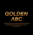 glossy sign golden abc chic golden rotated vector image