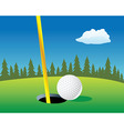 golf ball landscape vector image