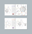 halftone cover design brochure vector image vector image