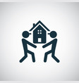 home loader icon for web and ui on white vector image