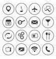 Mediafood and communication icons set flat design vector image