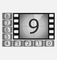 movie countdown numbers set vector image vector image