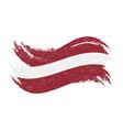 national flag of latvia designed using brush vector image vector image
