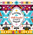 native colorful aztec seamless pattern vector image vector image