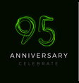 ninety five anniversary poster for party 95 years vector image vector image
