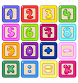 number blocks vector image vector image
