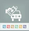 oil car vector image