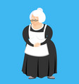 old teacher isolated pedagogue grandmother vector image