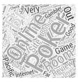 online poker room reviews Word Cloud Concept vector image vector image