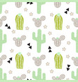 pattern with cactus and desert elements vector image