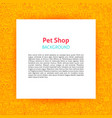 pet shop paper template vector image vector image