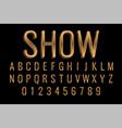 premium golden style text effect in 3d vector image
