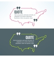 quotation background with usa map outline vector image vector image