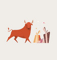 red bull isolated for greeting cards vector image vector image
