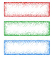 Red green and blue sketch banners vector image vector image