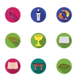 Religion set icons in flat style Big collection vector image vector image